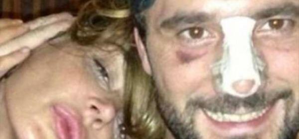 Nina Moric e Massimiliano Dossi incidente