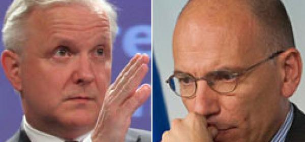 Olli Rhen ed Enrico Letta