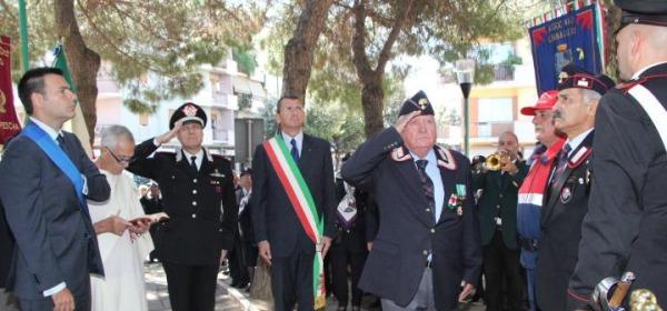 Un momento della giornata di commemorazione a Pescara