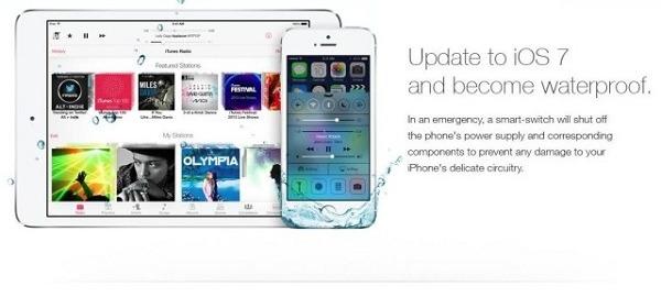 Fake waterproof iOS 7