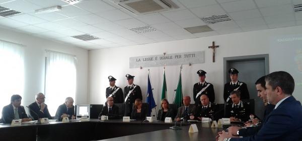 La conferenza stampa alla Procura distrettuale antimafia - L'Aquila