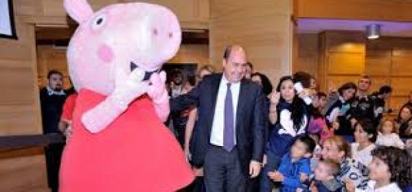 Peppa Pig durante la tappa di Roma