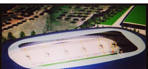 Una foto del progetto del nuovo stadio tratta dal profilo Instagram di Guglielmo Maio