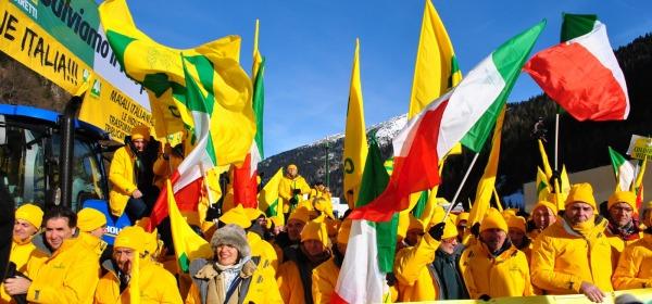 Manifestazione Brennero delegazione Abruzzo