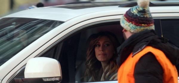 Belen Rodriguez bloccata dai Forconi