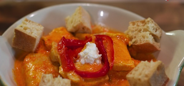 Polletto Arancionetto, pollo, peperoni, robbiola