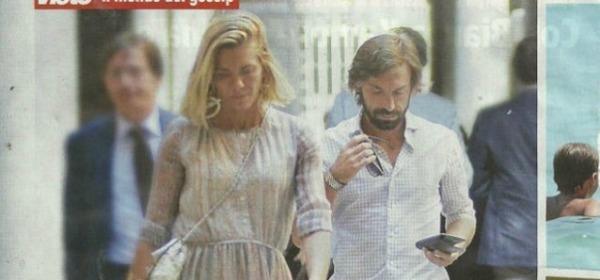 Andrea Pirlo e Valentina Bladini