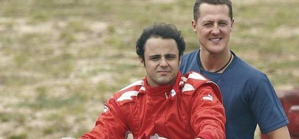 Felipe Massa e Michael Shumacher