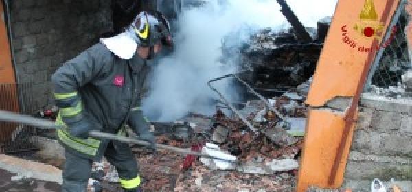 La casa esplosa a Capistrello