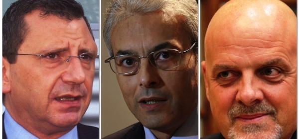 Luigi Albore Mascia, Gianni Chiodi e Maurizio Brucchi