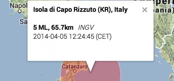 Terremoto Crotone, Calabria