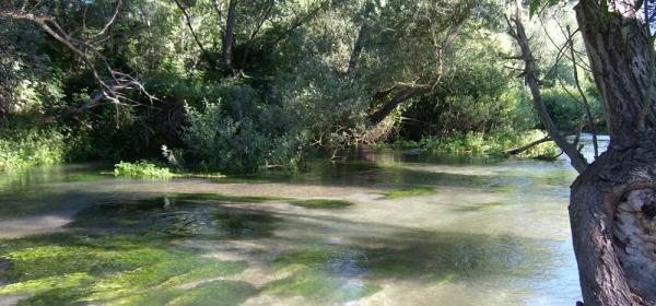 Il fiume Tirino nei pressi di Bussi