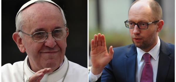 Papa Francesco - Arseniy Yatsenyuk