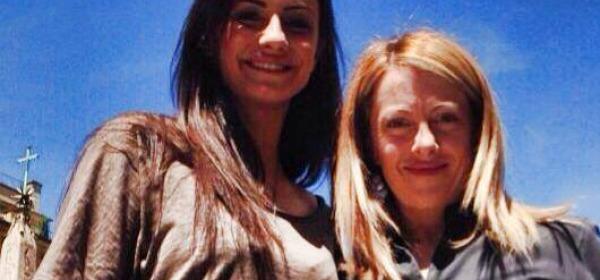 Anna Munafò e Giorgia Meloni