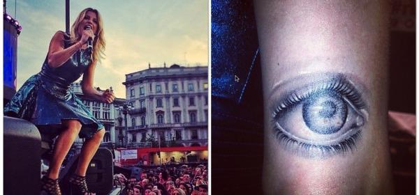 Emma Marrone Tatuaggio occhio
