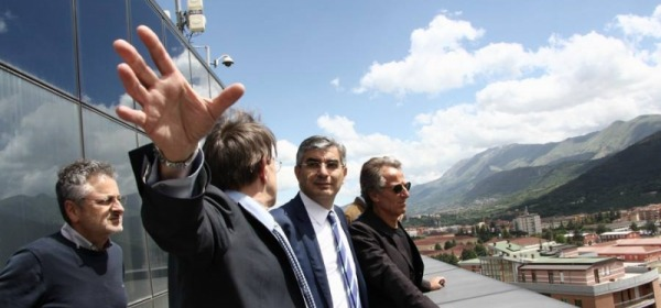 Luciano D'Alfonso a Palazzo Silone