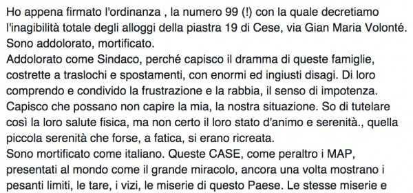 Massimo Cialente Facebook