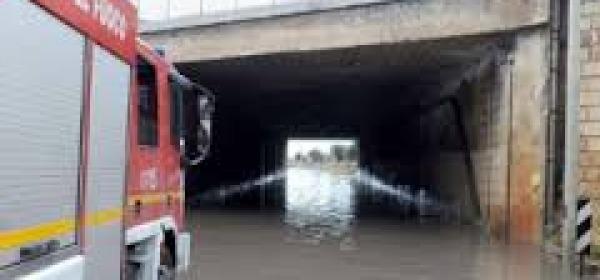 Sottopasso allagato Pescara