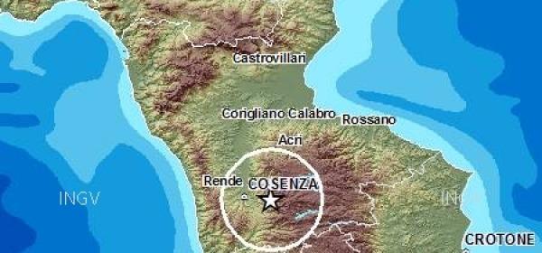 mappa scossa Calabria