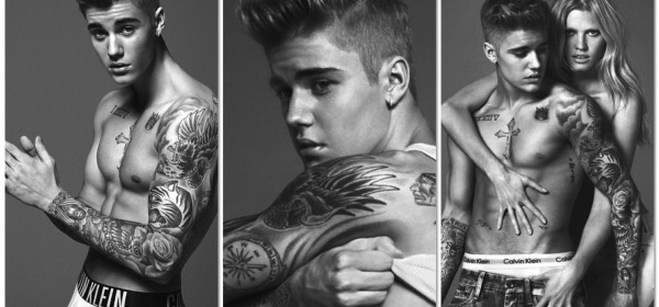Justin Bieber modello per Kalvin Klein
