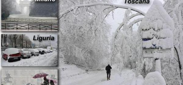 BIG SNOW - Fotocomposizione ANSA