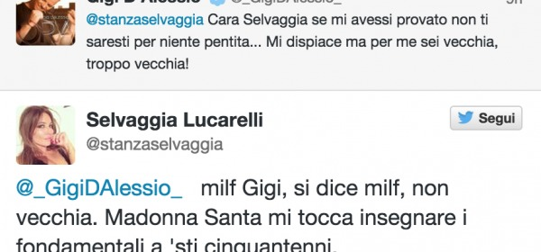 Gigi D'Alessio e Selvaggia Lucarelli
