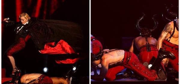 Brit Awards, Madonna cade dal palco