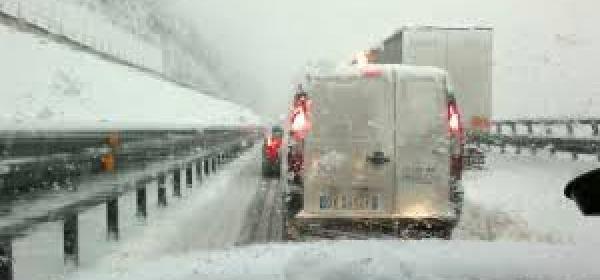 nevicata-traffico autostradale