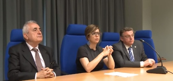 conferenza stampa lavori di ristrutturazione di palazzo Sgaroni