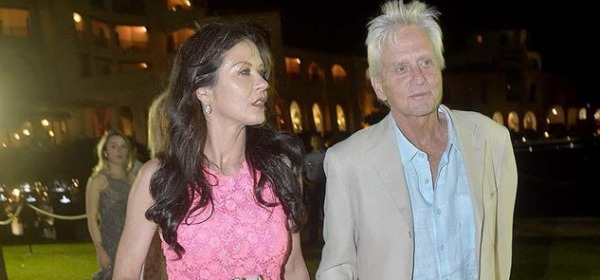 Caterine Zeta Jones e Michael Douglas in Sardegna