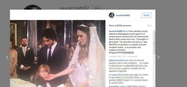 Il post di Laura Chiatti sulla crisi matrimoniale (Instagram)