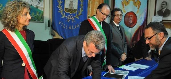 Firma contratto di fiume villalago