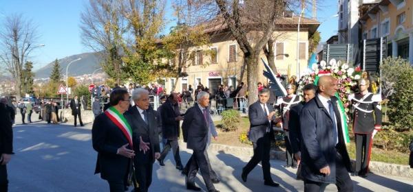 Il Presidente Mattarella a L'Aquila - foto da twitter