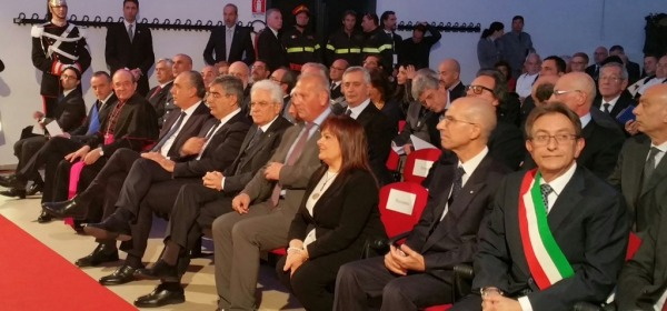 Mattarella, inaugurazione AAUnivAq2015/2016 - foto da twitter