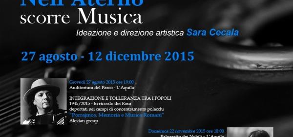 Locandina festival nell'aterno scorre musica
