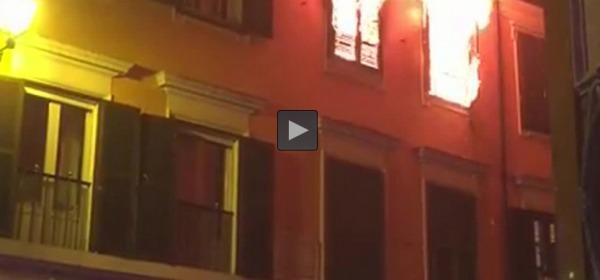 Roma, incendio in via del Governo Vecchio