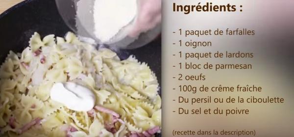 Le One Pasta à la Carbonara - Demotivateur Food Officiel