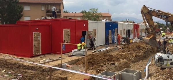 La nuova scuola di Amatrice nella frazione di Villa San Cipriano