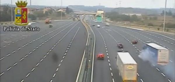 Il video della Polstrada
