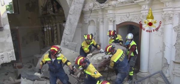 I Vigili del fuoco al recupero opere d'arte e di culto