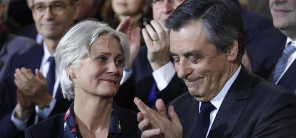 Francois Fillon con la moglie Penelope