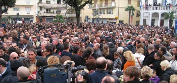 I funerali di Emanuele Fadani
