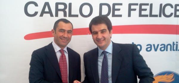 Carlo De Felice e il Ministro Raffaele Fitto