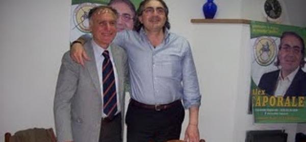 Alex Caporale con il sindaco Pupillo