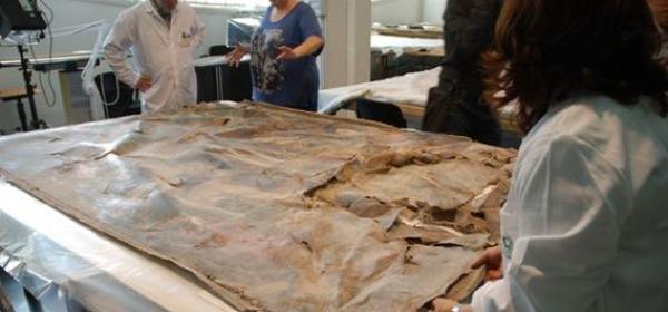 L'opera di Badeschini al momento del ritiro al museo di Celano