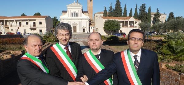 I sindaci dei quattro Comuni