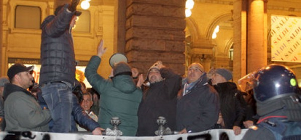 Protesta tassisti a Roma (foto Ansa)