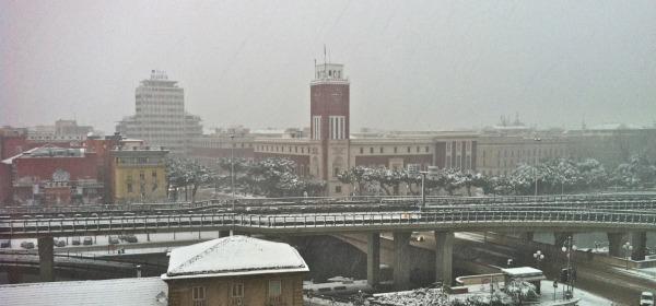 Pescara innevata (foto Fabio Sciarra)