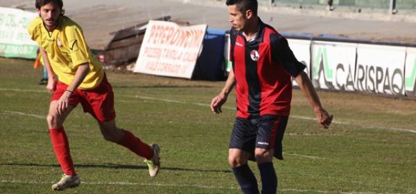 L'attaccante rossoblù Roberto Colussi, suo il gol del raddoppio