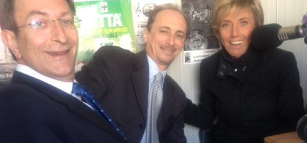 Cialente e De Matteis con Matilde Albani a Radio L'Aquila 1